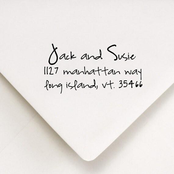 Address Stamp - Wedding, Thank You, Housewarming Gift - Jack and Susie Design