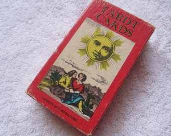 Vintage 1970 Mueller Tarot Cards 1JJ Deck w/ Instructions Switzerland