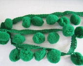 3 to 5 yards Pom Pom Trim - Choose your own yards - Large - Forest Green Number 19 ( Pom pom size 1.2 cm or 1/2 inch)