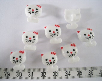 26 pcs of  White Kitty Cat Button