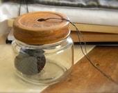 Farmhouse Ball Jar - for your VALDANI Pearl cotton - from Notforgotten Farm