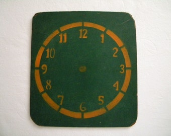Large Vintage Chalkboard Clock for Teaching How to Tell Time.