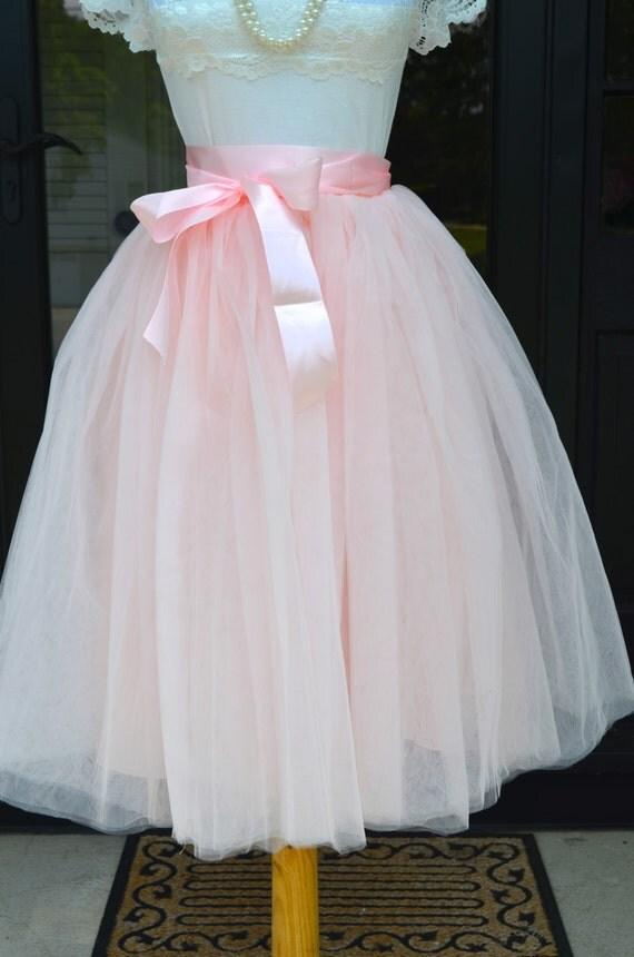 womens tutu pale pink tulle skirt tulle skirt pink skirt