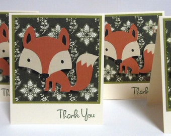 Fox Mini Note Cards set of 8