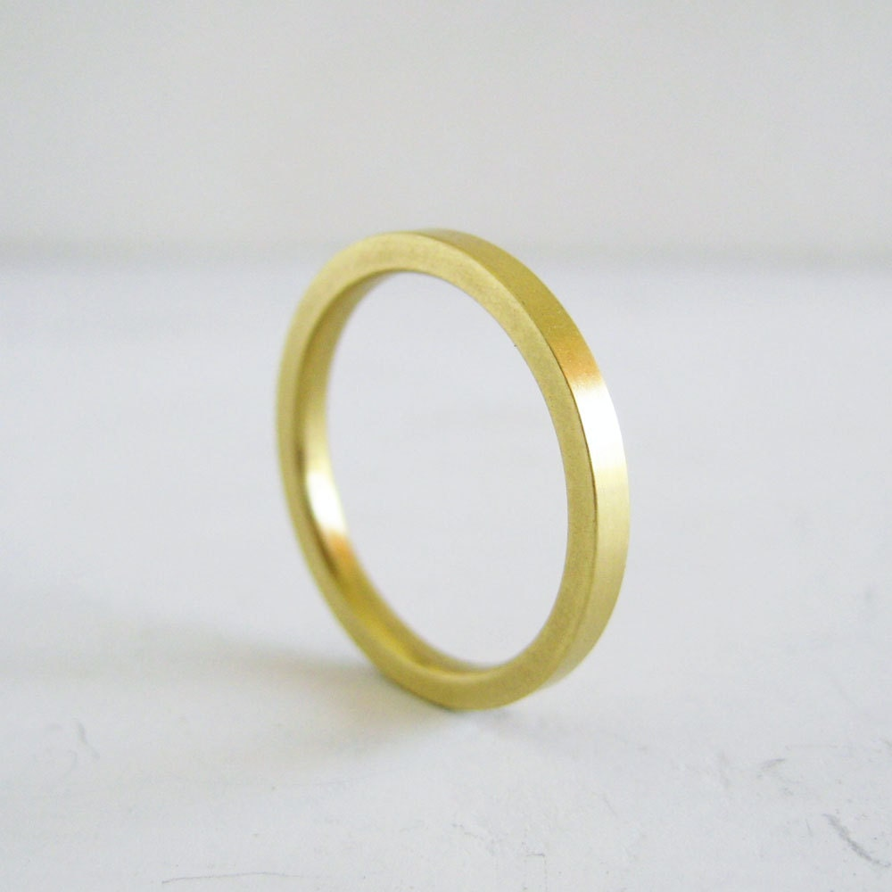 Women 39 S Gold Wedding Band 2mm Thick Band Yellow By MeanderWorks