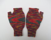 Fingerless mittens texting gloves mittens multi color rainbow womens fingerless mittens