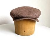 Men's Driving Cap in Vintage Pendleton Wool - Flat Cap - Made to Order -  3 WEEKS FOR SHIPPING
