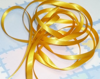 DANDELION DouBLe FaCeD SaTiN RiBBoN, Polyester 1/4 inch wide, 5 Yards