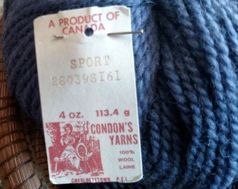 Condon Yarns Canadian Sport Weight !00% Wool Yarn
