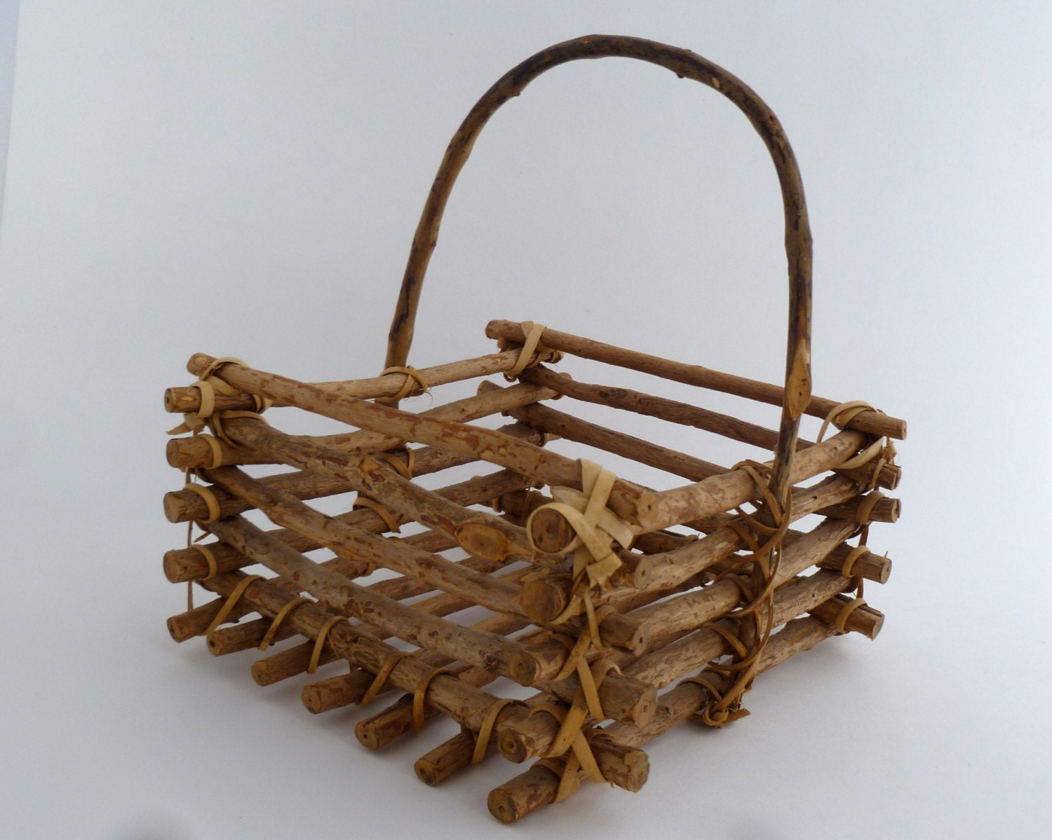 How To Weave A Basket Out Of Twigs : Basket twig square x home