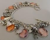 Six Wives Of Henry Eigth Anne Boleyn Altered Art Charm Bracelet