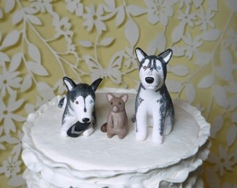 Dog wedding cake topper made to order