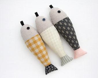 Fish Plushie Soft Toys - SET of 3 - Osaka-LAST ONE