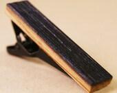Tie Clip: Whiskey Inner Barrel Oak Wood Tie Tack