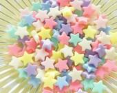 35 pcs Pastel Star Beads (13mm) AZ151 (((LAST)))