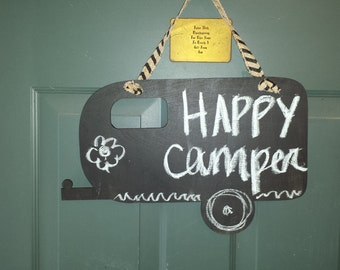 Camper Chalkboard Wall Decor