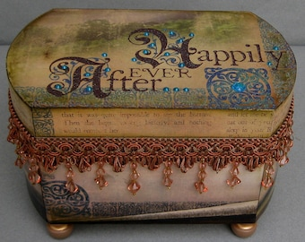 Happily Ever After Keepsake Jewelry Trinket Decorative Box