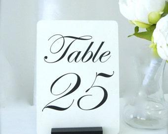 Table Number Holder  + Black Table Number Holders + Wedding Decor
