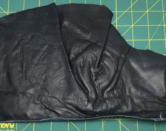BLACK Leather Hide Piece