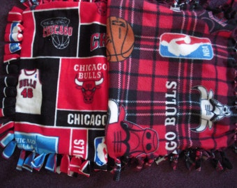 Chicago Bulls NoSew Fleece Blanket