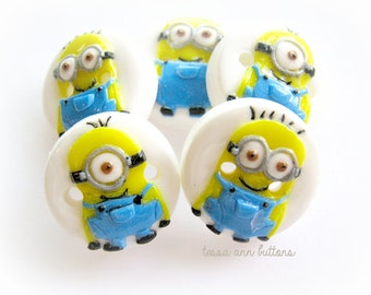 Minions set of 5 approx 3/4""