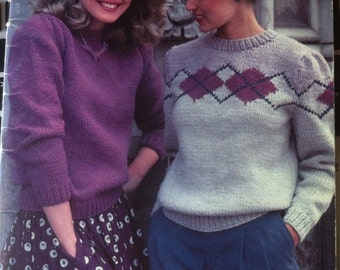 Patons Beehive Chunky Knits vintage 80s knitting patterns