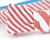 baby red & white striped freestyle bow tie