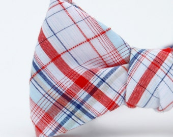 good ol' plaid freestyle bow tie