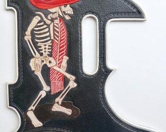 Homage to J G Posada Leather Pickguard