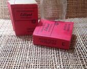 Vintage miniature german translation books