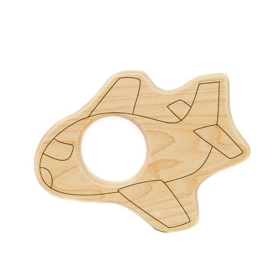 Airplane Wood Toy Teether