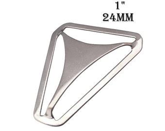 """20 Metal Suspender Triangle Back Slide 1"""". 24mm triangle adjuster for boys suspenders. men suspenders supplies. suspender hardware #293106"""