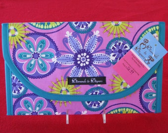 Lavender Carnival Bloom Diaper and Wipes Case Holder Clutch