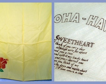 Lot of 2 Hawaiian Souvenir Hankies