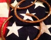 Lucky Horseshoe Heavy Copper Cuff Bracelet