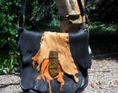 Moss and Sunshine - Bison leather, elkhide and deerskin purse - one of a kind