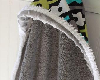 Baby-Hooded-Towels-Boys-Bath-Boy-Towel-Rocker-Guitars-Blue-Lagoon-Green-Savvy Baby Goodies-Beach-Swim-Cape-Terry-Wrap-Wash-Cloth-Gift Set