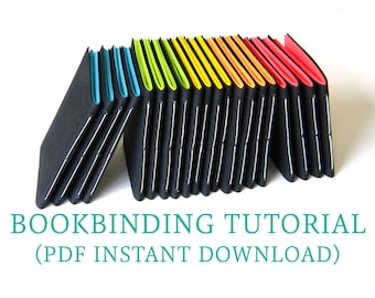 Bookbinding Tutorial DIY for Beginners - Digital Download PDF eBook - Pamphlet Stitch Tutorial