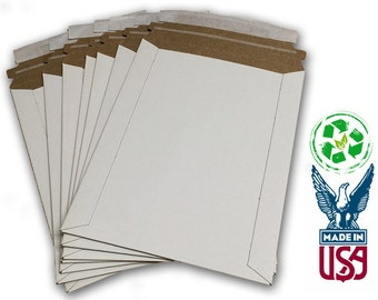 """6""""x8"""" Rigid Stay Flat Mailer with Peel-N-Seal Tab - 100% Recyclable!"""