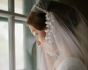 Juliet bridal cap wedding blusher veil - Lillian no. 2111