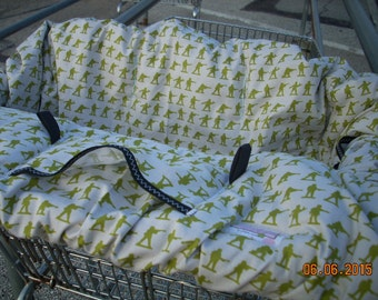 High Chair Cover Shopping Cart cover  for boy or girl......Military Max by Riley Blake