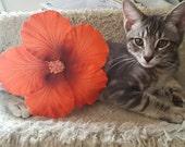 Hibiscus, Orange, Orange flower, Orange hibiscus, Large flower, Hair Flower, Tiki, tiki oasis, pinup, retro, Tiki flower, Tropical flower