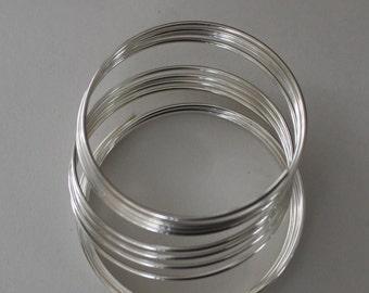 Wire, sterling silver, dead-soft, round, 20 gauge - 5'