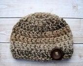 Baby Boy Hat, Crochet Boy Hat, Boy Beanie, Crochet Baby Hat. Newborn Boy Hat, Infant Boy Hat, Baby Beanie, Hat for Baby Boy, Baby Cap, Brown