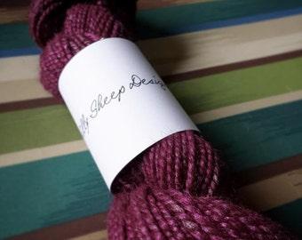 Handspun Alpaca Silk Yarn in *Beajolais* (88 yards)