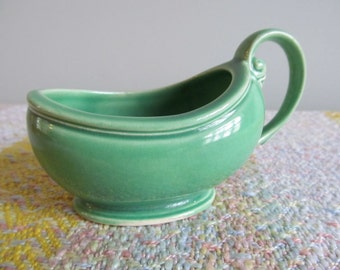 Vintage Saucier Gravy Boat Server 1930s 1940s Shabby Farmhouse Cottage