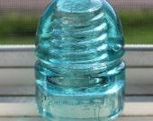 Antique Dwight Pattern Aqua Glass Insulator