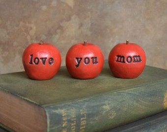 Gifts for mom ... Red love you mom apples ... 3 Word Apples, perfect for Mother's Day gift giving