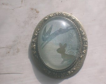 Watership down brooch, Fiver and the Black Rabbit