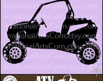 ATV Off-road Vehicle Set 1 - 1 eps & 1 svg Vinyl Ready Image and 1 png clipart graphics files {Instant Download}